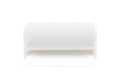 Крен бумажного полотенца с белой предпосылкой Стоковые Изображения RF