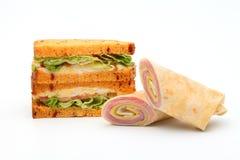 Крен ветчины сандвича Стоковые Изображения