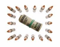 крен доллара патронов защищенный изгородью Стоковые Изображения RF