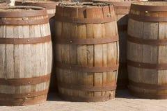 Крен деревянных бочонков Стоковая Фотография