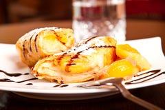 Крен десерта персика Стоковая Фотография