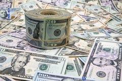 Крен и предпосылка валюты США большой Стоковое Изображение