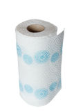 Крен кухни бумажного полотенца салфетки с голубыми картинами Стоковые Фотографии RF