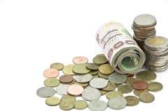 крен монетки кредитки тайский Стоковое Изображение RF