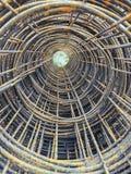 Крен недостатка ячеистой сети стального обслуживания и ржавчины Стоковое фото RF