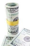 Крен новых 100 долларов Стоковое Изображение