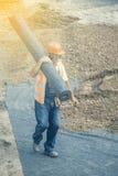 Крен нося работника изоляции 2 geotextile Стоковая Фотография