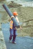 Крен нося работника изоляции 4 geotextile Стоковые Фото