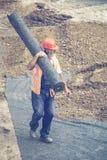 Крен нося работника изоляции 3 geotextile Стоковые Фотографии RF