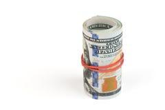 Крен долларовых банкнот американца 100 Стоковое Изображение