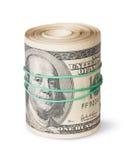 Крен 100 долларовых банкнот Стоковое фото RF