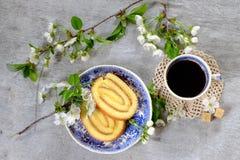 Крен печенья лимона Стоковое Изображение