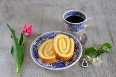 Крен печенья лимона Стоковое фото RF