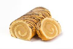 Крен печенья при сливк заполняя с шоколадом Стоковое фото RF
