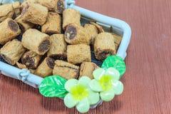 Крен печенья шоколада Стоковые Фотографии RF