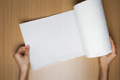 Крен полотенца белой бумаги Стоковое фото RF
