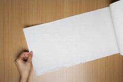Крен полотенца белой бумаги Стоковая Фотография