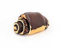 Крен плюшки с маковыми семененами и шоколадом Стоковая Фотография