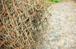 Крен сетки металла, загородки сетка металла в конце-вверх Стоковое Фото