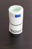 Крен 100 счетов евро Стоковое Изображение