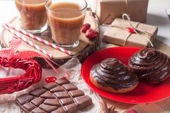 Крен сладостного шоколада с кофе Стоковая Фотография RF