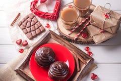 Крен сладостного шоколада с кофе Стоковое Изображение RF