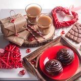 Крен сладостного шоколада с кофе Стоковое Изображение