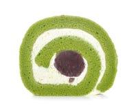 Крен торта зеленого чая стоковые изображения