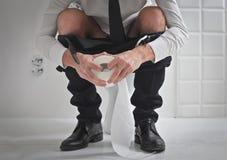 Крен туалета Стоковая Фотография