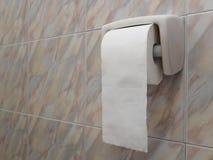 Крен туалетной бумаги на стене Стоковая Фотография