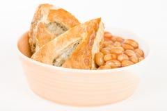 Крен & фасоли сосиски Стоковые Фото