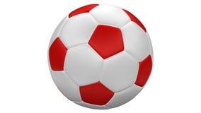 Крен футбольного мяча перевод 3d иллюстрация вектора