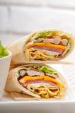 Крен хлеба pita сандвича клуба Стоковое Фото