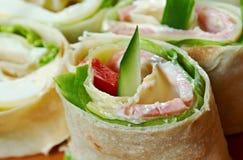 Крен хлеба пита сандвича Стоковое Изображение RF