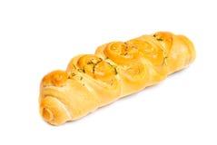 Крен хлеба чеснока изолированный на белой предпосылке Стоковые Изображения RF