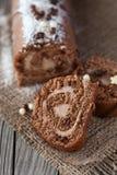 Крен шоколада швейцарский стоковое фото rf