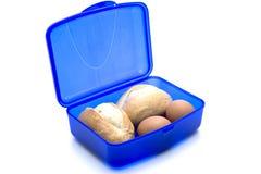 крен яичек click голубой коробки стоковые изображения rf