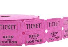 крен raffle снабжает белизну билетами Стоковая Фотография RF