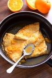 Крепирует suzette - блинчики с померанцовым соусом Стоковое Фото