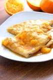 Крепирует suzette - блинчики с померанцовым соусом Стоковые Фото