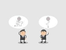 Крепко и простой способ прицелиться Конспект персонажа из мультфильма иллюстрации вектора Doodle Стоковые Фото