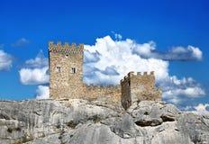 Крепостная стена и башни стоковое фото rf