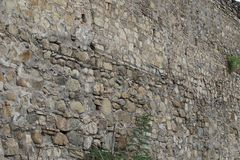 Крепостная стена от больших камней стоковые изображения rf
