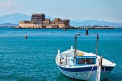 Крепость воды в городке Nafplio в Греции стоковое изображение