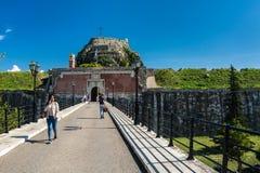 Крепость в городе Корфу, Греции Стоковое фото RF
