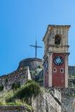 Крепость в городе Корфу, Греции Стоковое Изображение