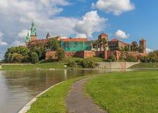 Крепость в Краков, Польша Wawel стоковая фотография rf
