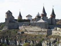 Крепость в старом городке Kamenetz-Podolsk в Украине Стоковые Фотографии RF