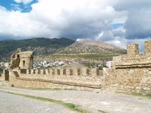 Крепость в Sudak Стоковое Изображение