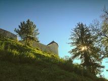 крепость в tesanj стоковое фото rf
